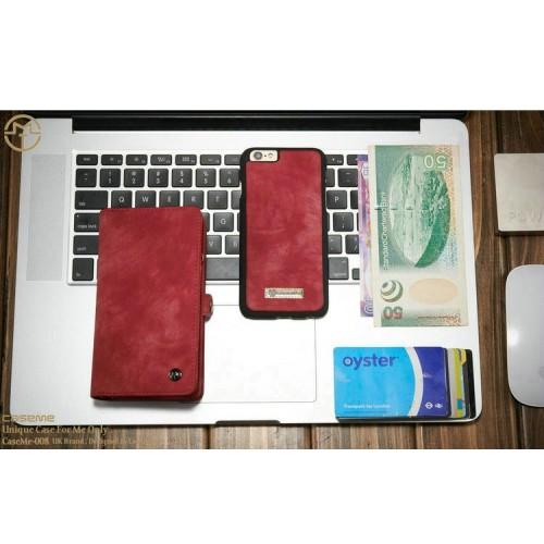 Detachable Multi-slot Retro Split Leather Wallet Zipper Case For iPhone7 Apple 4.7